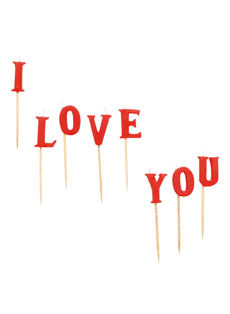 Shop Amscan 8-Piece I Love You Candle Set 3 inch online in