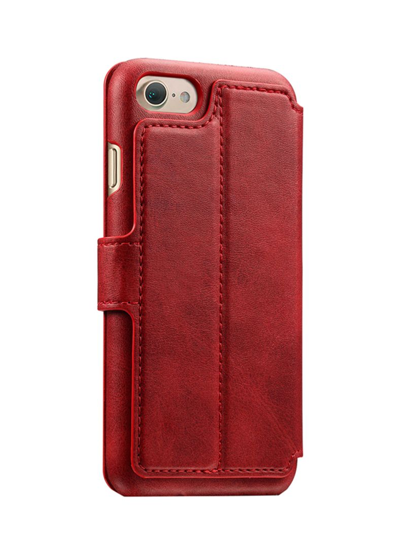 the best attitude 3625a c77c9 Shop Suteni Flip Case Cover With Stand And Card Holder For Apple iPhone  6/6s Red online in Dubai, Abu Dhabi and all UAE