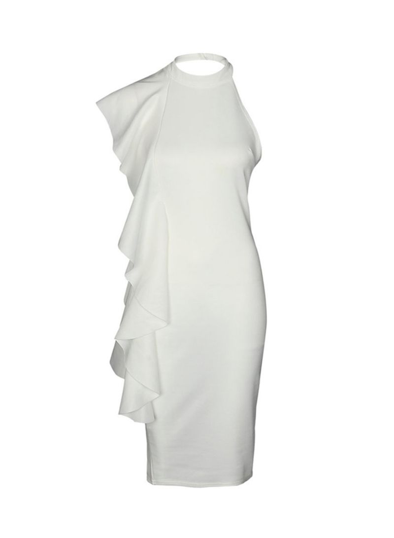 b8584b2a3 تسوق ماركة غير محددة وفستان مكشكش بدون أكمام أبيض أونلاين في السعودية