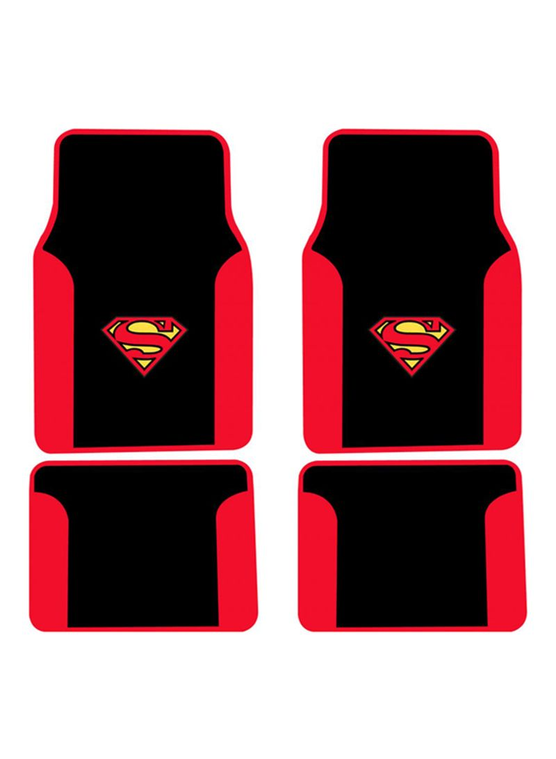 Otheroffersimg Unbranded 4 Piece Superman Car Floor Mat Set