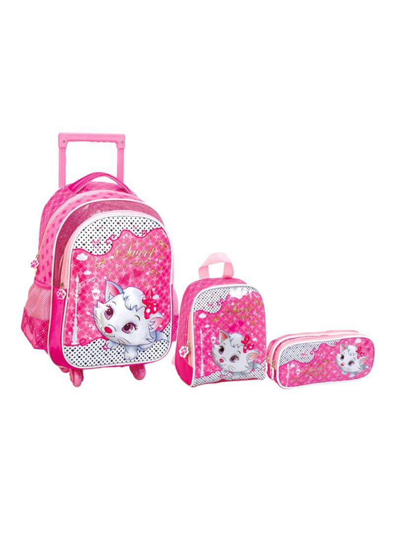 b7bbee951fc6b تسوق فالوجوشا وطقم حقائب مدرسية بعجل مكون من 3 قطع أونلاين في الإمارات