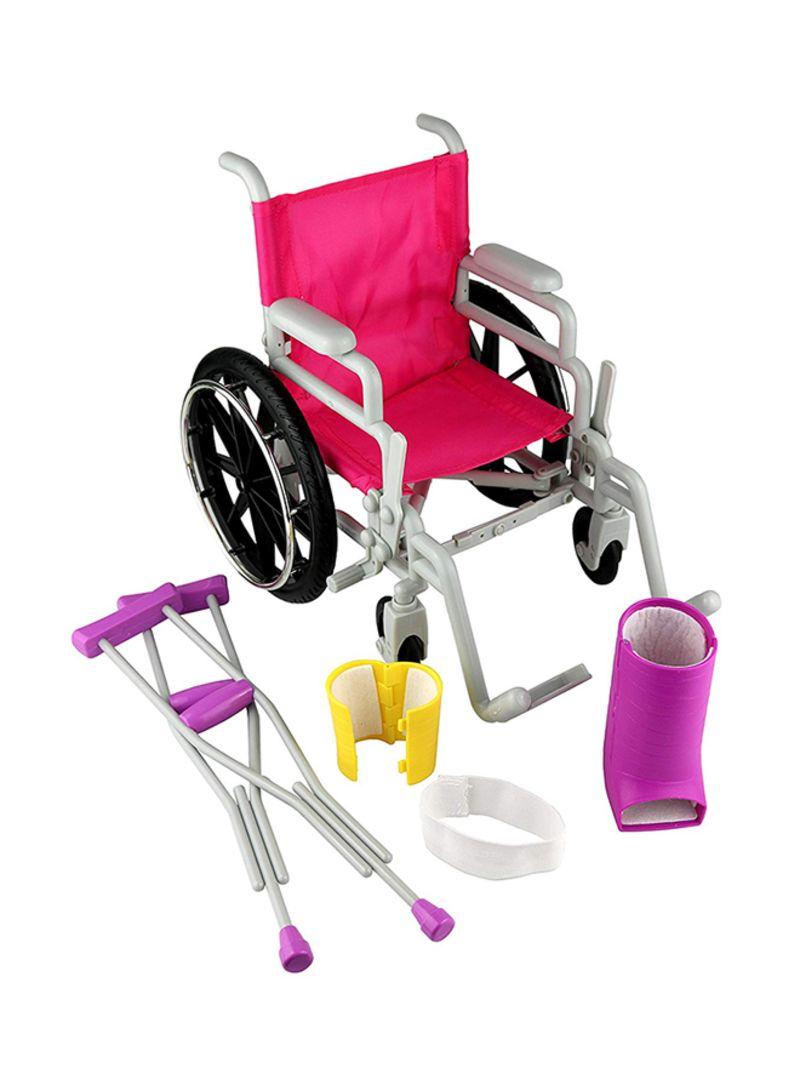 Shop Generic American Dolls Wheelchair And Crutch Set online in Dubai, Abu  Dhabi and all UAE
