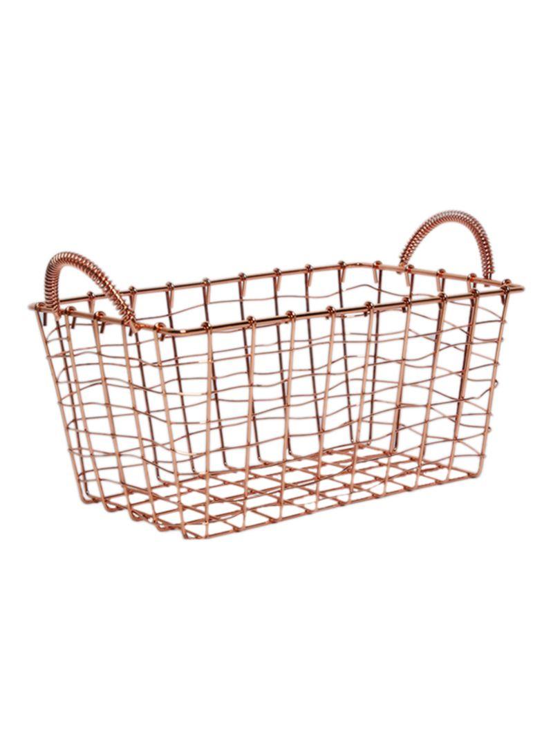 Shop homes r us Bread Basket Copper 25x15x11 centimeter online in ... da8ba7ecf9