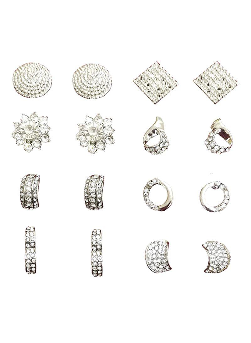 45d61f9b4 Shop Touchstone 8-Pairs Alloy Stud Earrings Set online in Riyadh ...