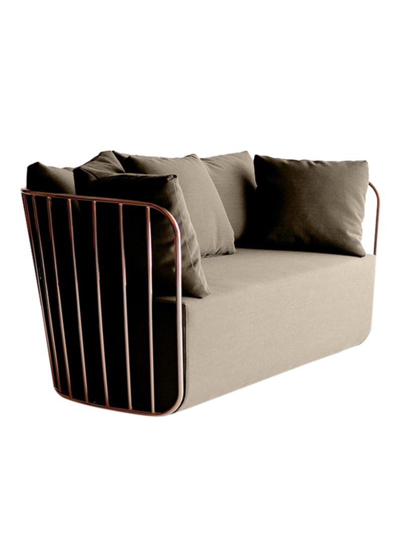 Surprising Shop Ebarza Torino 2 Seater Sofa Brown Rose Gold 145X72X68 Lamtechconsult Wood Chair Design Ideas Lamtechconsultcom
