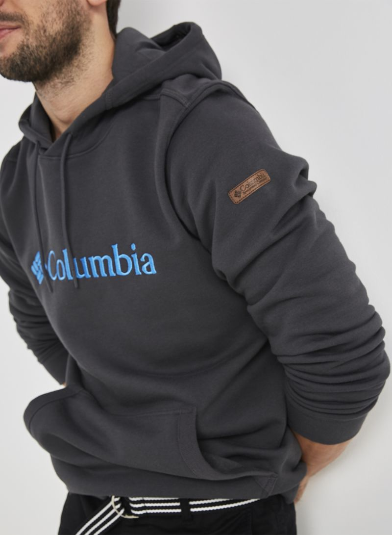 c6f6a787f3b Shop Columbia CSC Basic Logo Long Sleeve Hoodie Shark online in ...