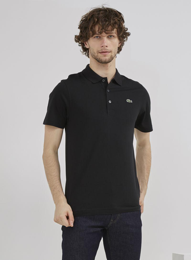 6f21cae48 تسوق لاكوست وقميص بولو بأكمام قصيرة من كول بورد أسود أونلاين في السعودية