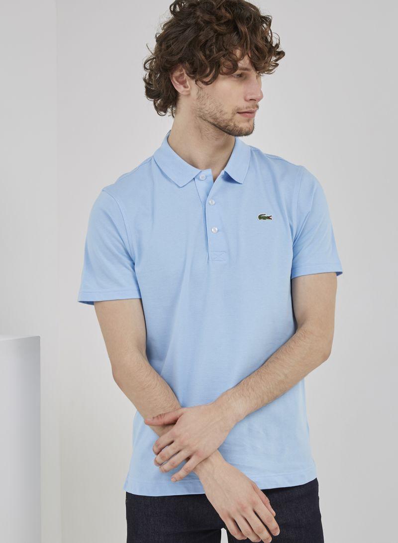 89726966 Shop Lacoste Short Sleeve Polo T-Shirt Blue online in Riyadh ...