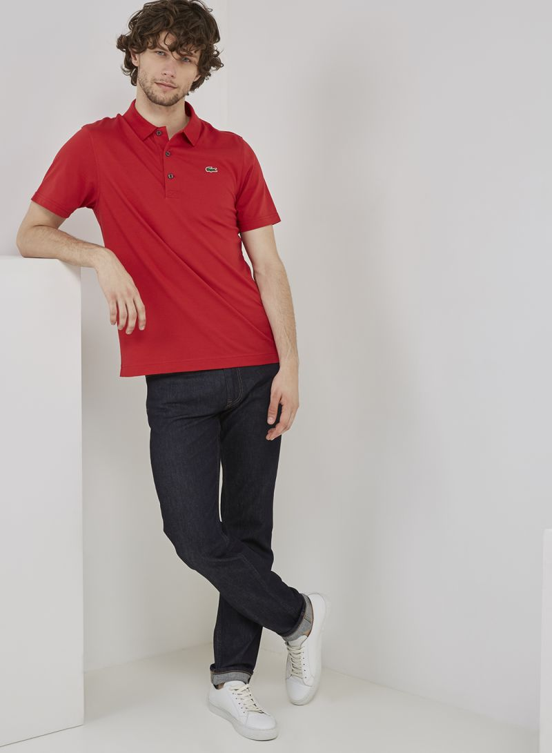 b816c012 Shop Lacoste Short Sleeve Polo T-Shirt Red online in Riyadh ...