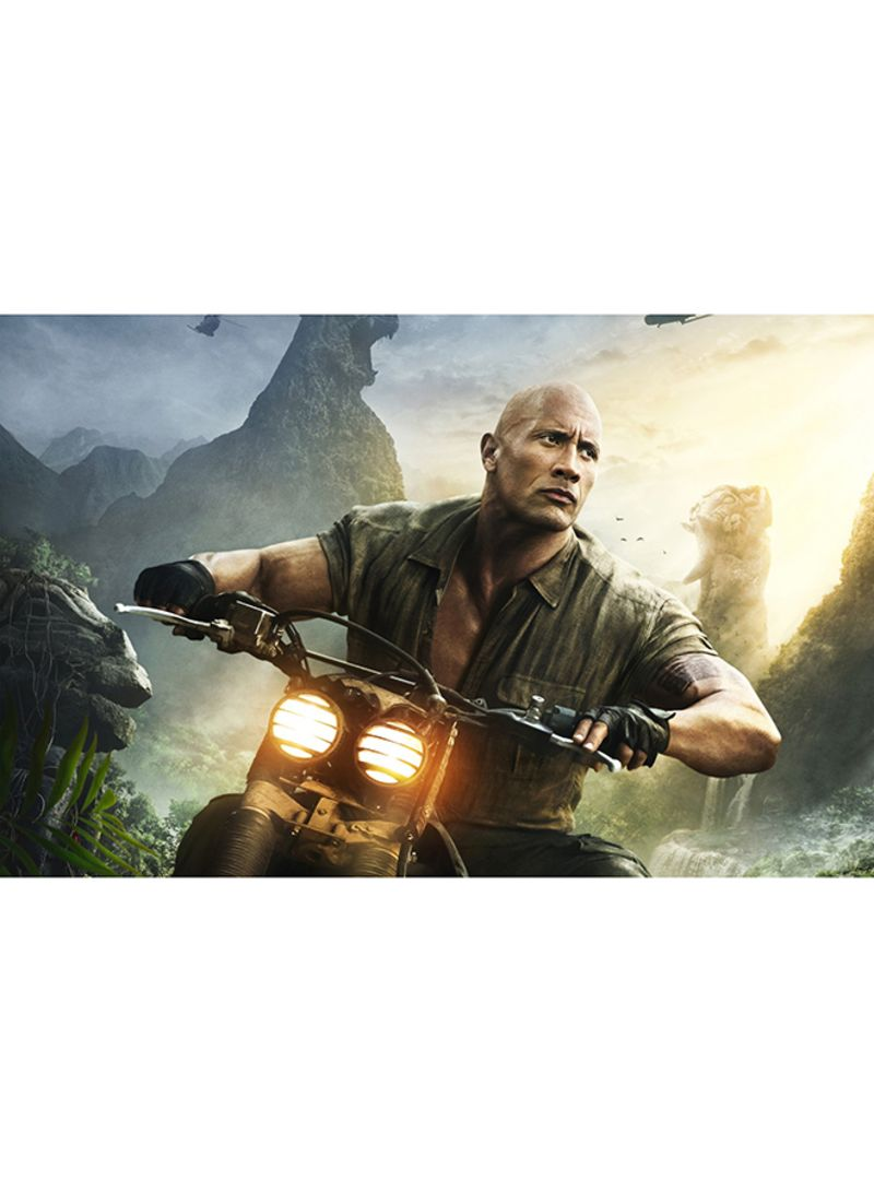 Shop Canvasjet Dwayne Johnson As Dr Smolder Bravestone Jumanji Welcome To The Jungle Wall Art Canvas Print Multicolour 50x32x3 5 Centimeter Online In