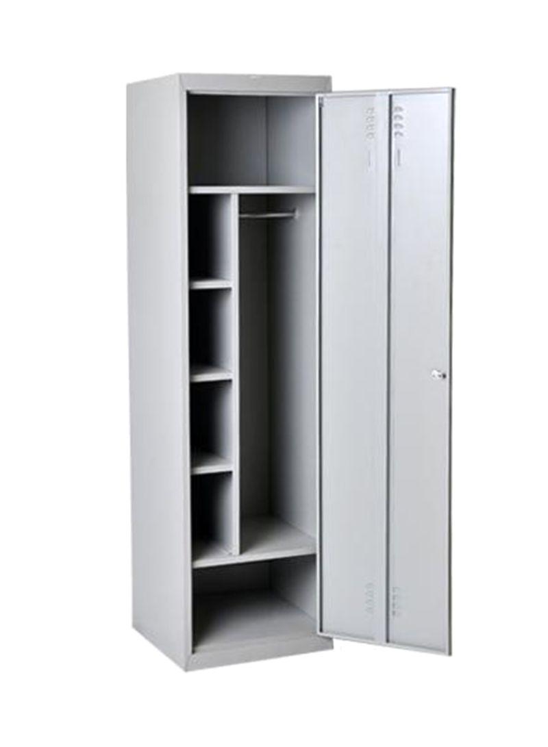 Shop Shuangbin Single Steel Door Cupboard Grey 183Hx60Wx45D