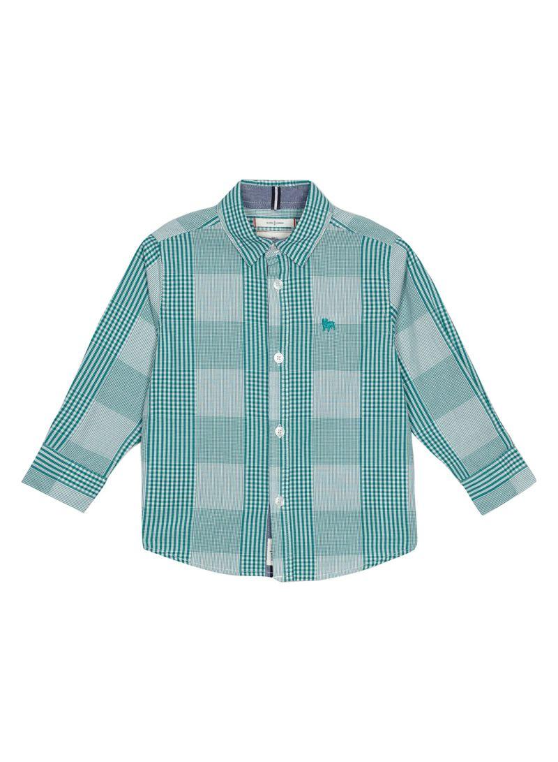 7bd6a779fe Shop Debenhams J By Jasper Conran Checked Regular Fit Shirt Green ...