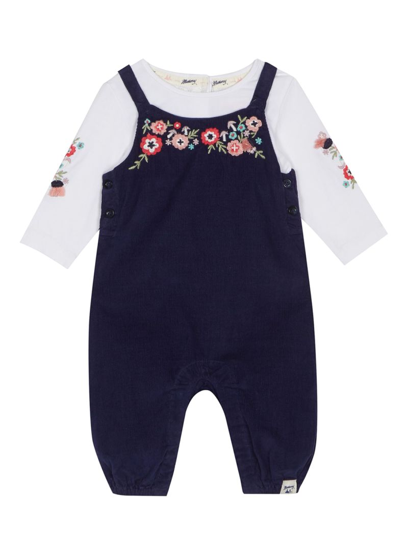 f7d99f0a4 Shop Debenhams Mantaray Floral Embroidered Dungarees And Top Set ...
