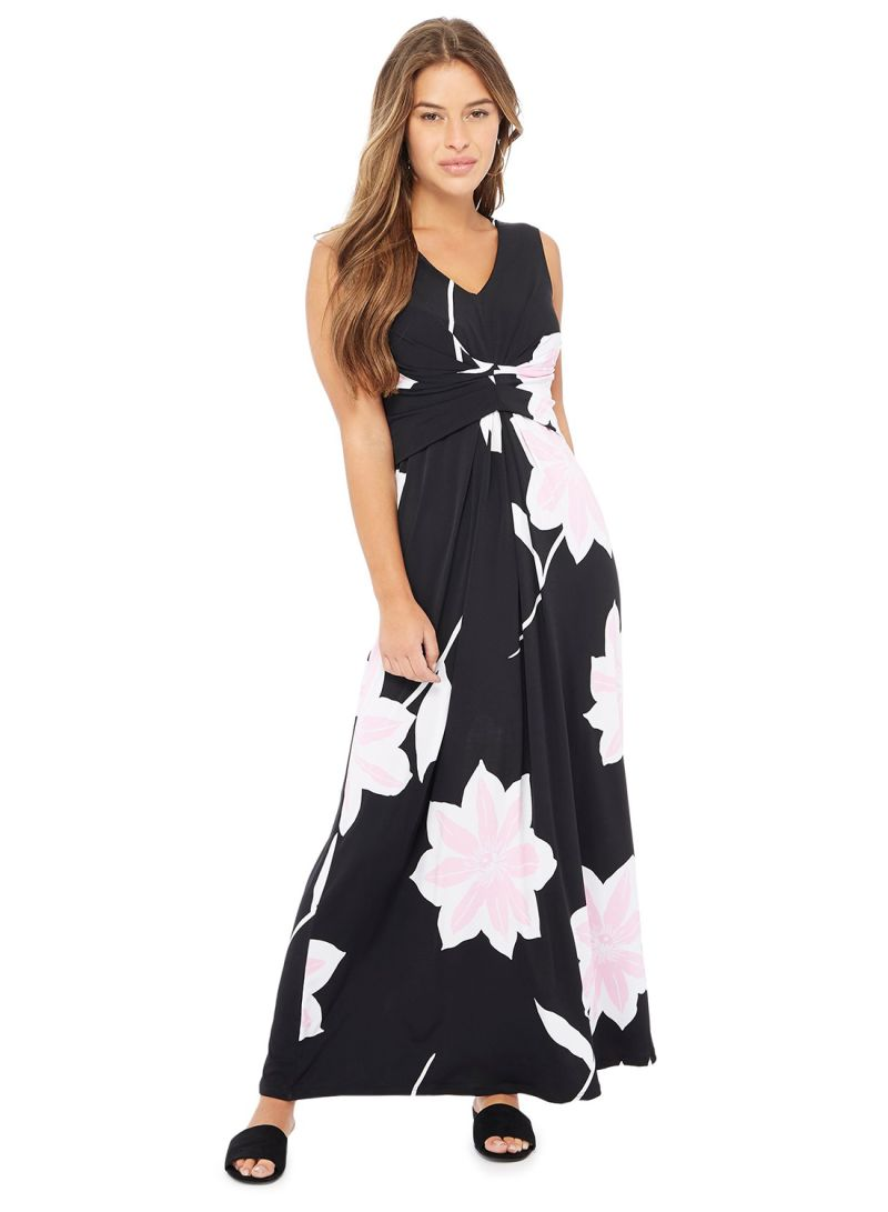 846ee9946c68 Shop Debenhams Principles Floral Print V-neck Sleeveless Maxi Dress ...