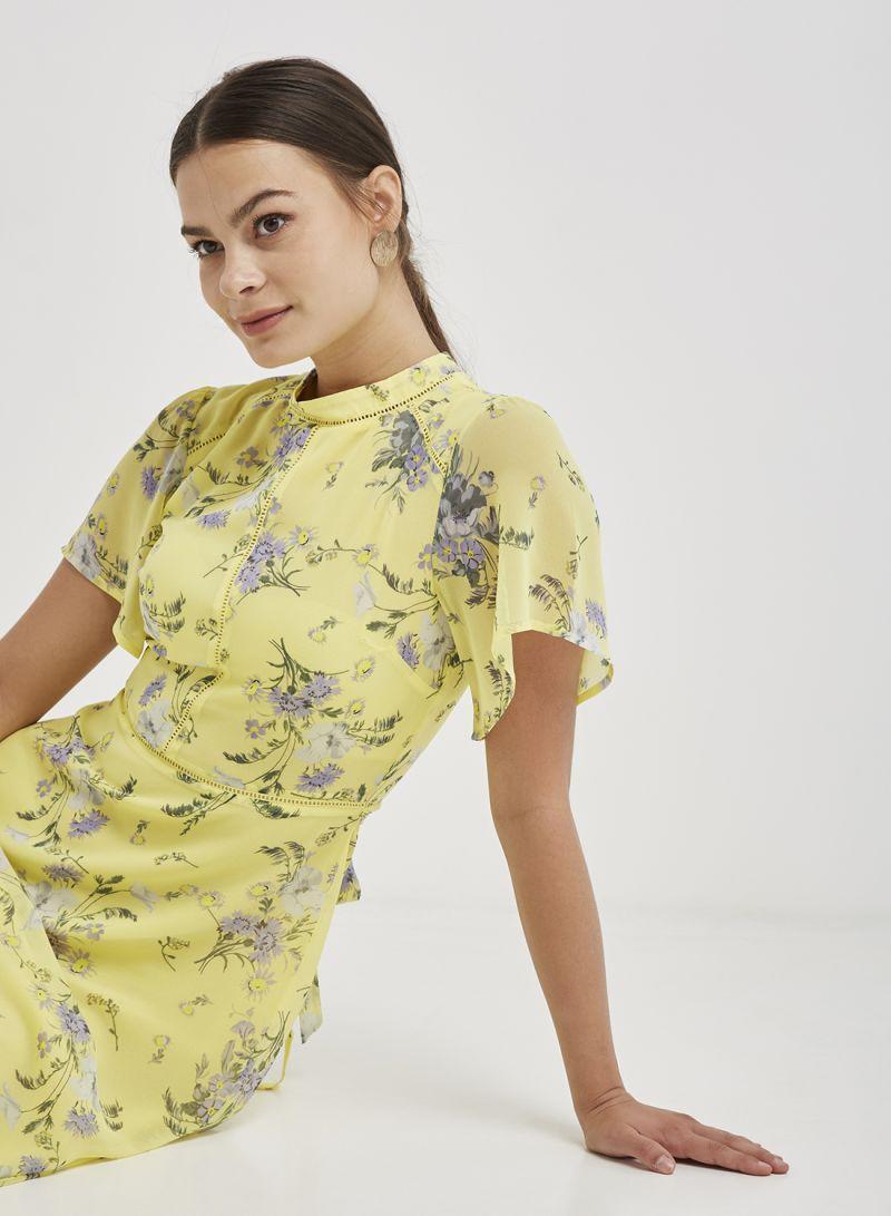 c7c5290ea629 Shop Oasis Provence Midi Dress Yellow online in Dubai, Abu Dhabi and ...
