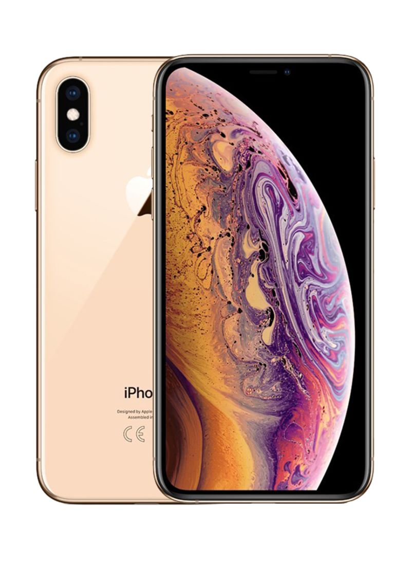 Shop Apple iPhone XS With FaceTime Gold 64GB 4G LTE - Middle East Region  online in Riyadh, Jeddah and all KSA