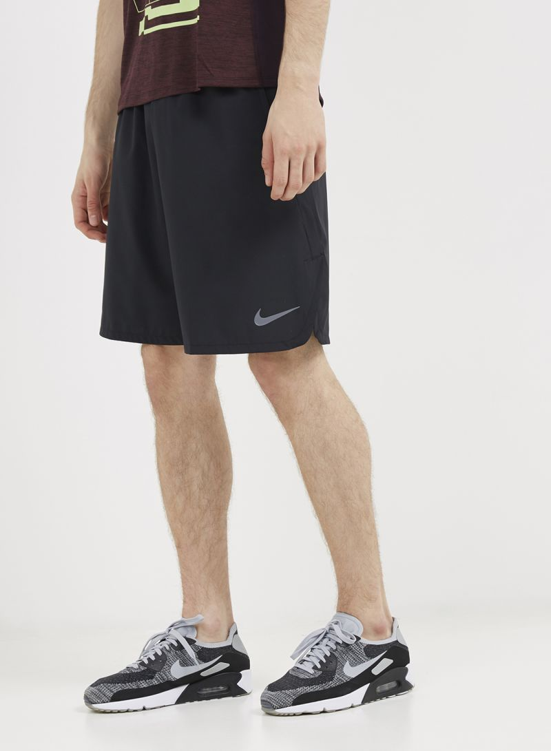 5a0073696893 Shop Nike Flex Woven 2.0 Low-Rise Shorts Black Dark Grey online in ...