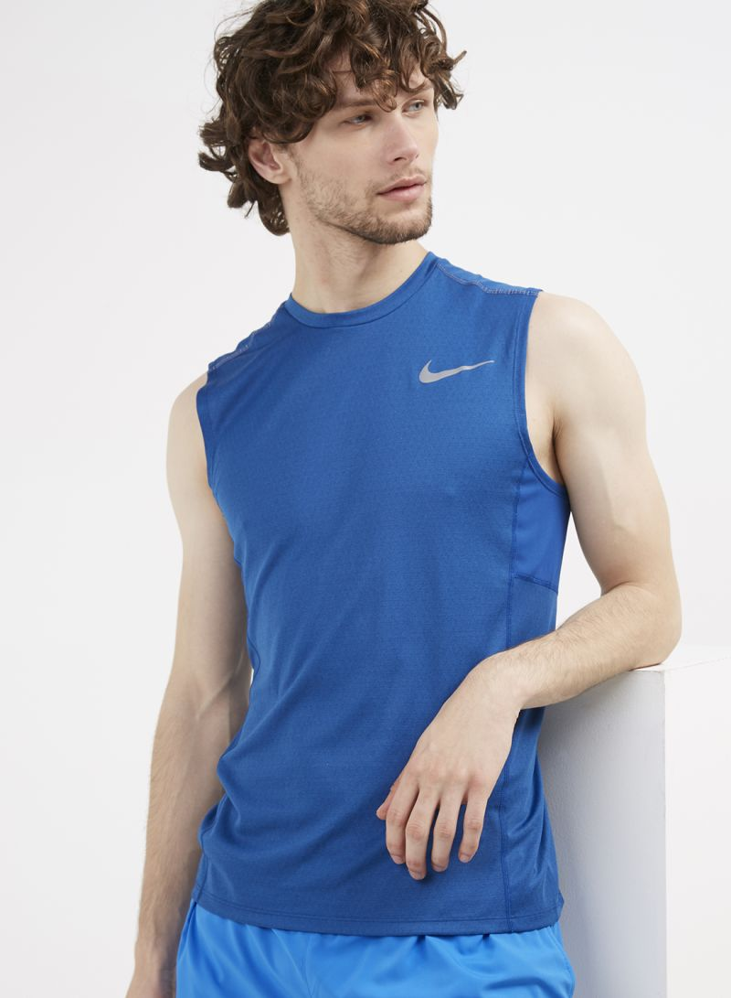 cb346a33cfb2 Shop Nike M Miler Tech Sleeveless Vest Signal Blue online in Dubai ...
