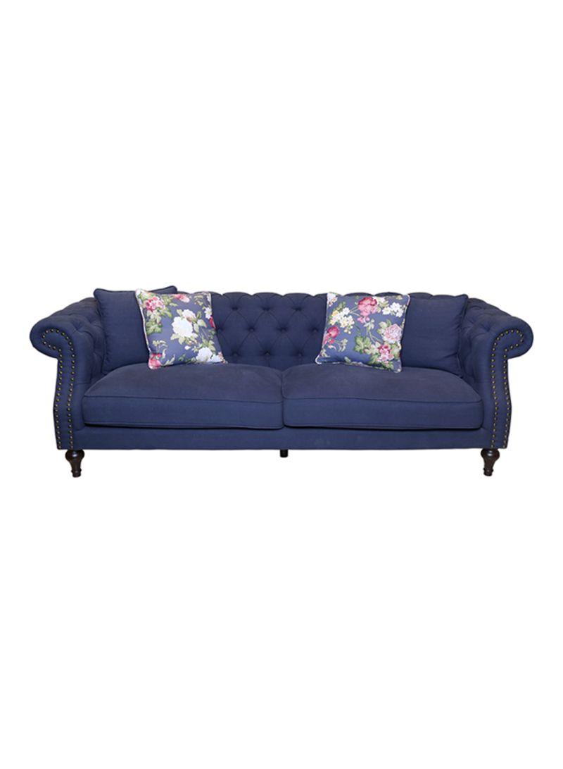 Pleasing Shop Homes R Us Susan 3 Seater Sofa Blue Blue 228X73X92 Download Free Architecture Designs Pushbritishbridgeorg