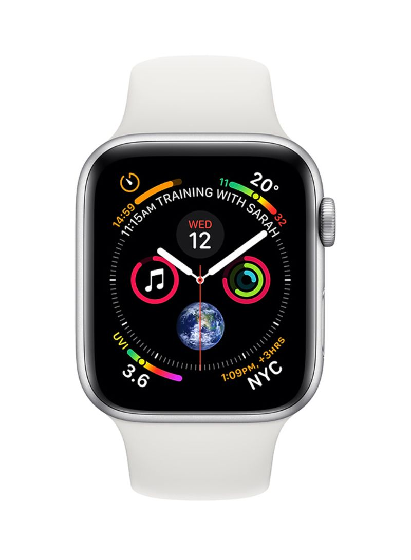 22cf82fae Shop Apple Watch Series 4 GPS Silver Aluminium Case With White Sport ...