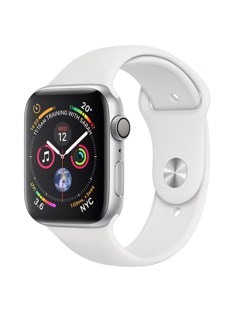 5e6d65a39 Shop Apple Watch Series 4 GPS Silver Aluminium Case With White Sport ...