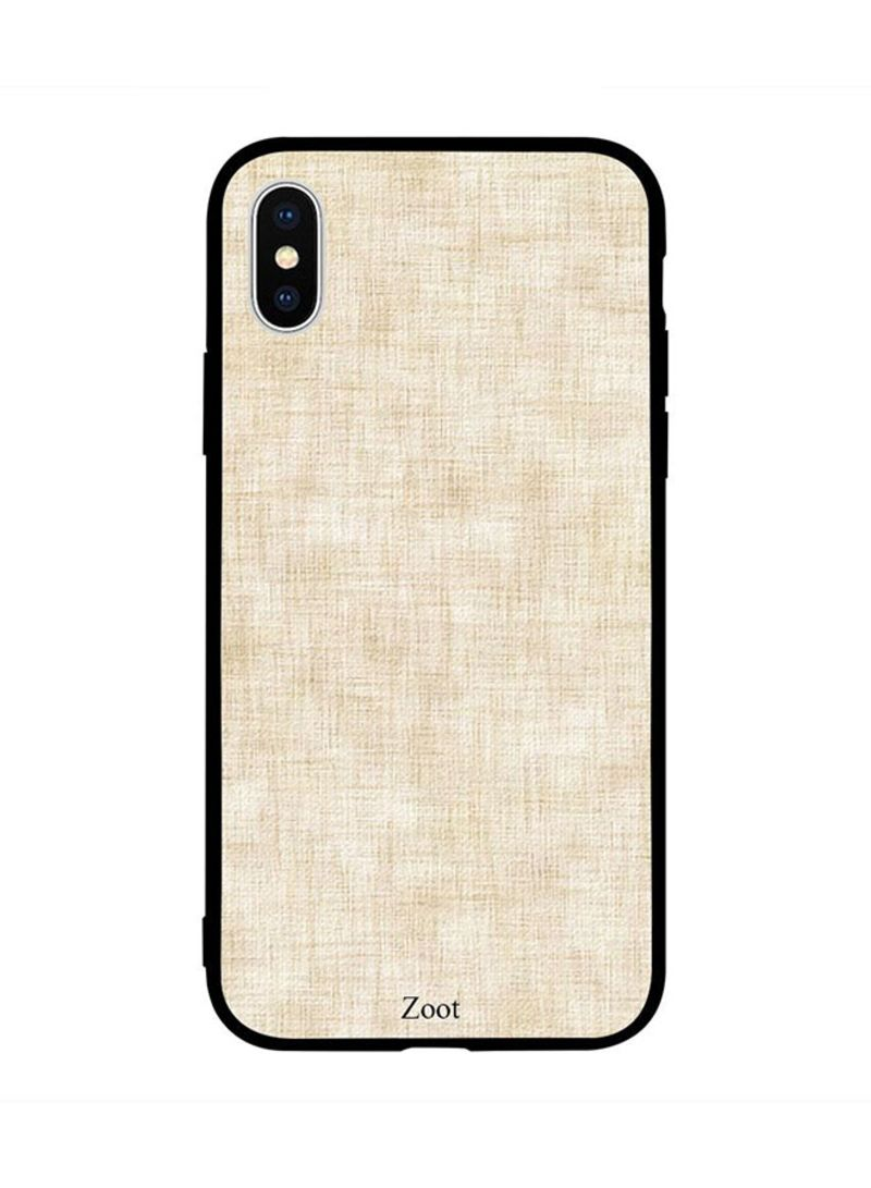 Shop Zoot Protective Case Cover For Apple iPhone XS Max Off White Textile  Pattern online in Dubai, Abu Dhabi and all UAE