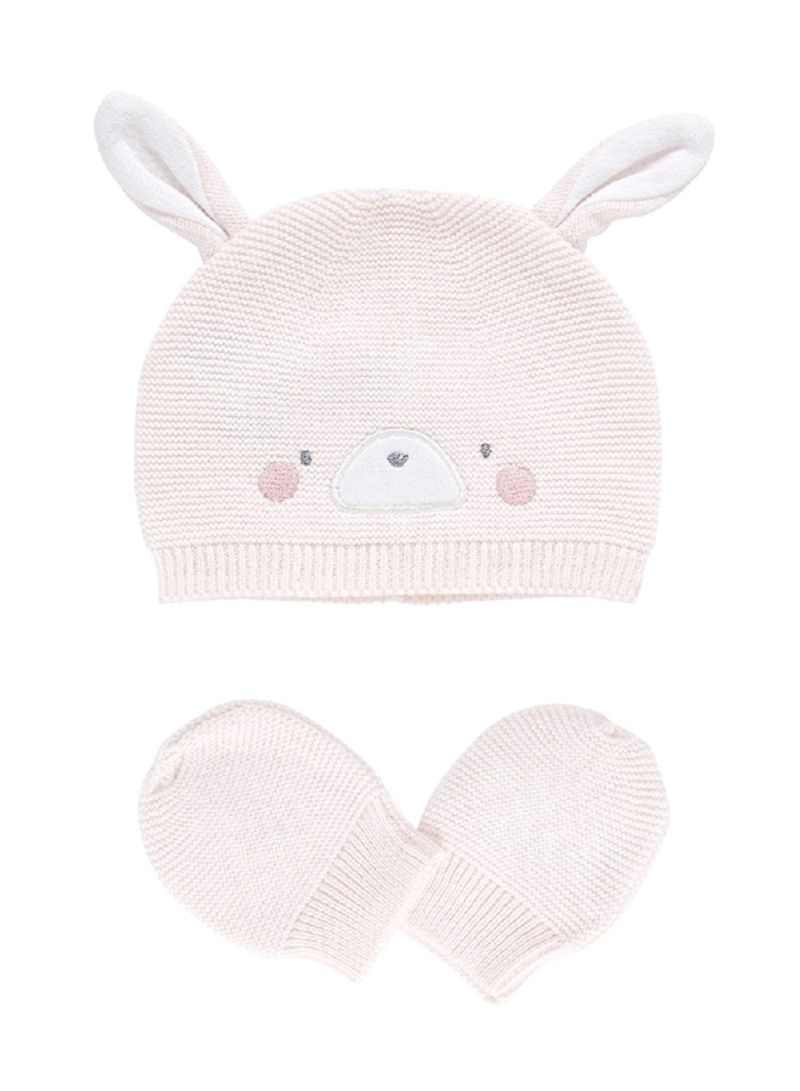 d17eee01995 Shop mothercare My First Knitted Bunny Hat And Mitts Pink online in ...