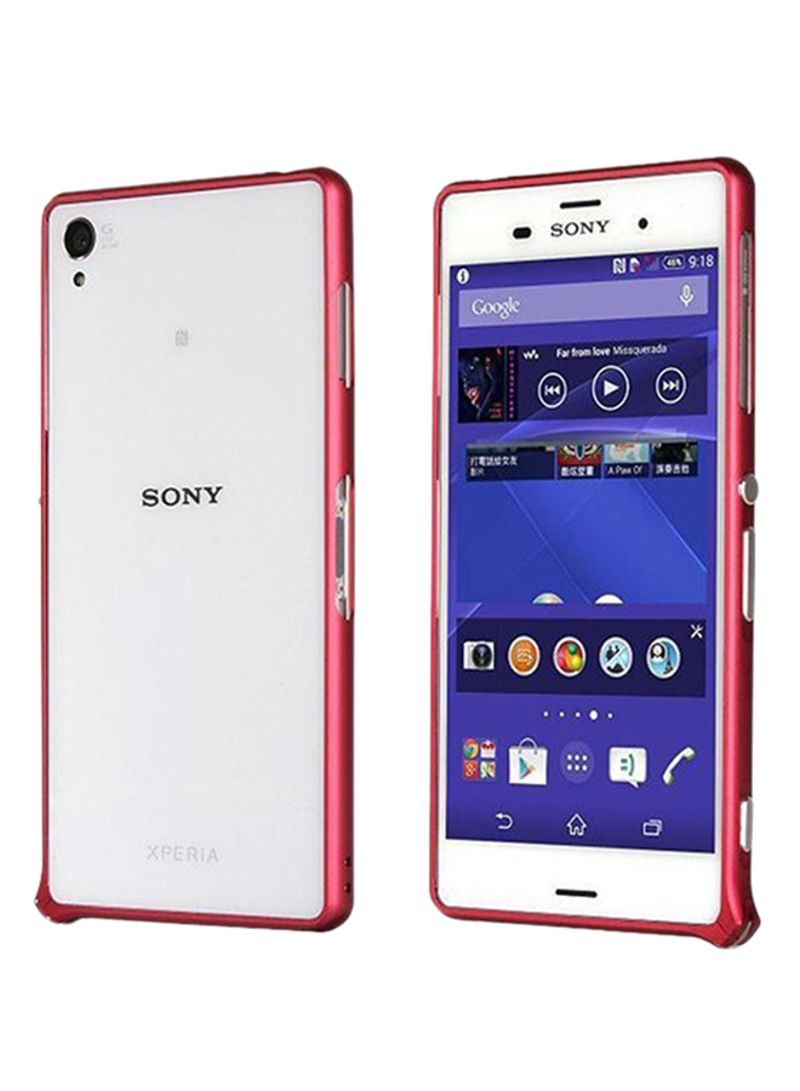 timeless design 3357f b2c6e Shop Ozone Ultrathin Case Cover For Sony Xperia Z3 Red/Clear online ...