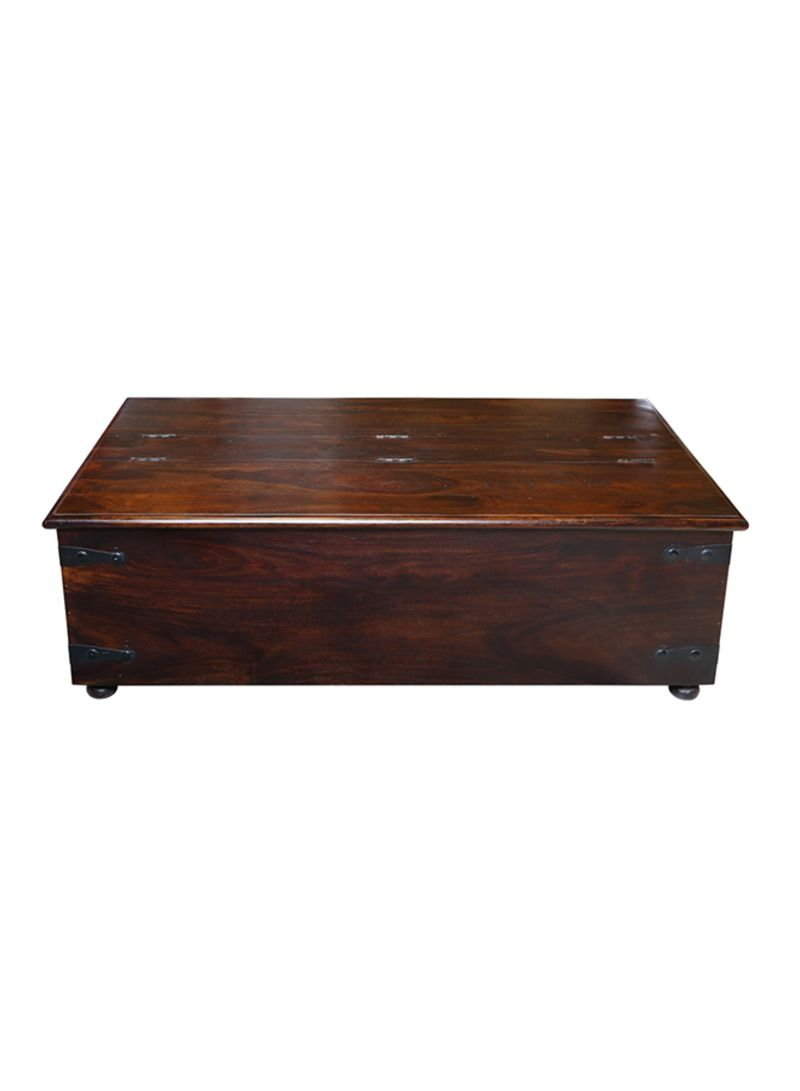 Shop Homes R Us Wooden Coffee Table Walnut 140x45x75 Centimeter