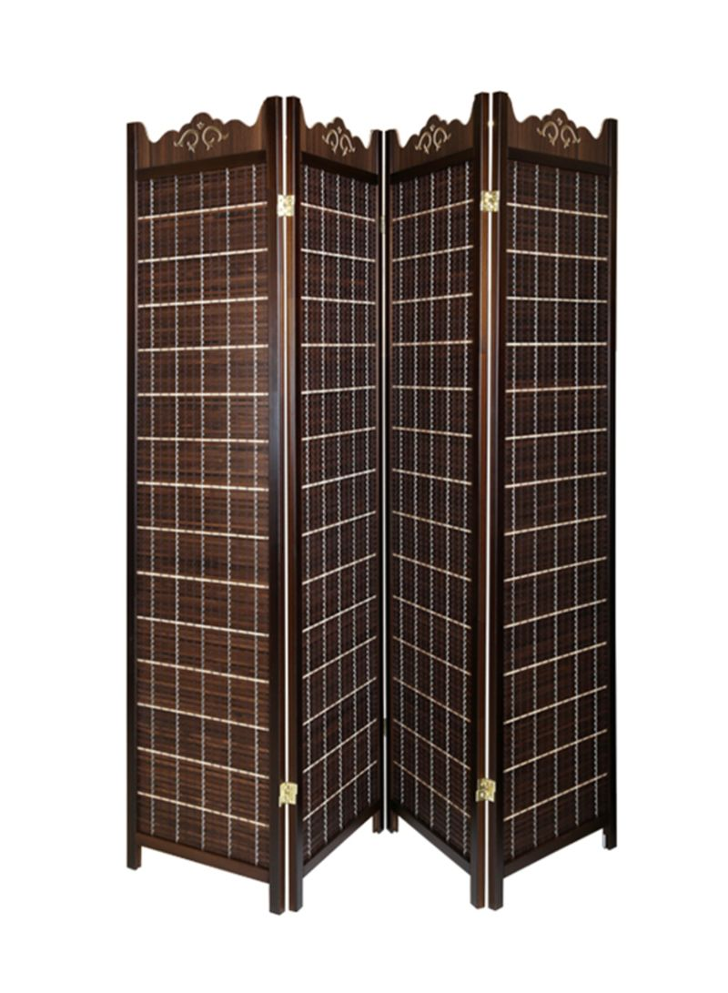 Shop Homes R Us Wooden Folding Room Divider Brown 175x180x2