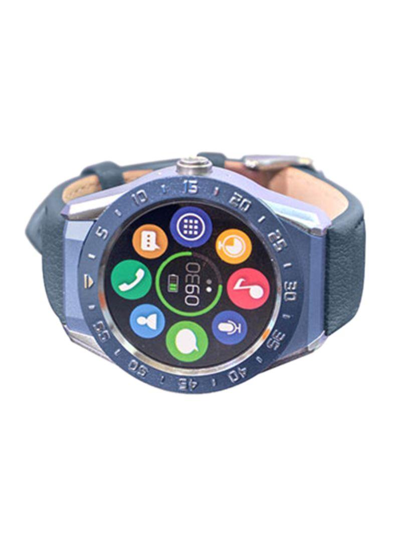 bf0fe6a0524 Shop WIME R9 Leather Smart Watch Blue online in Dubai