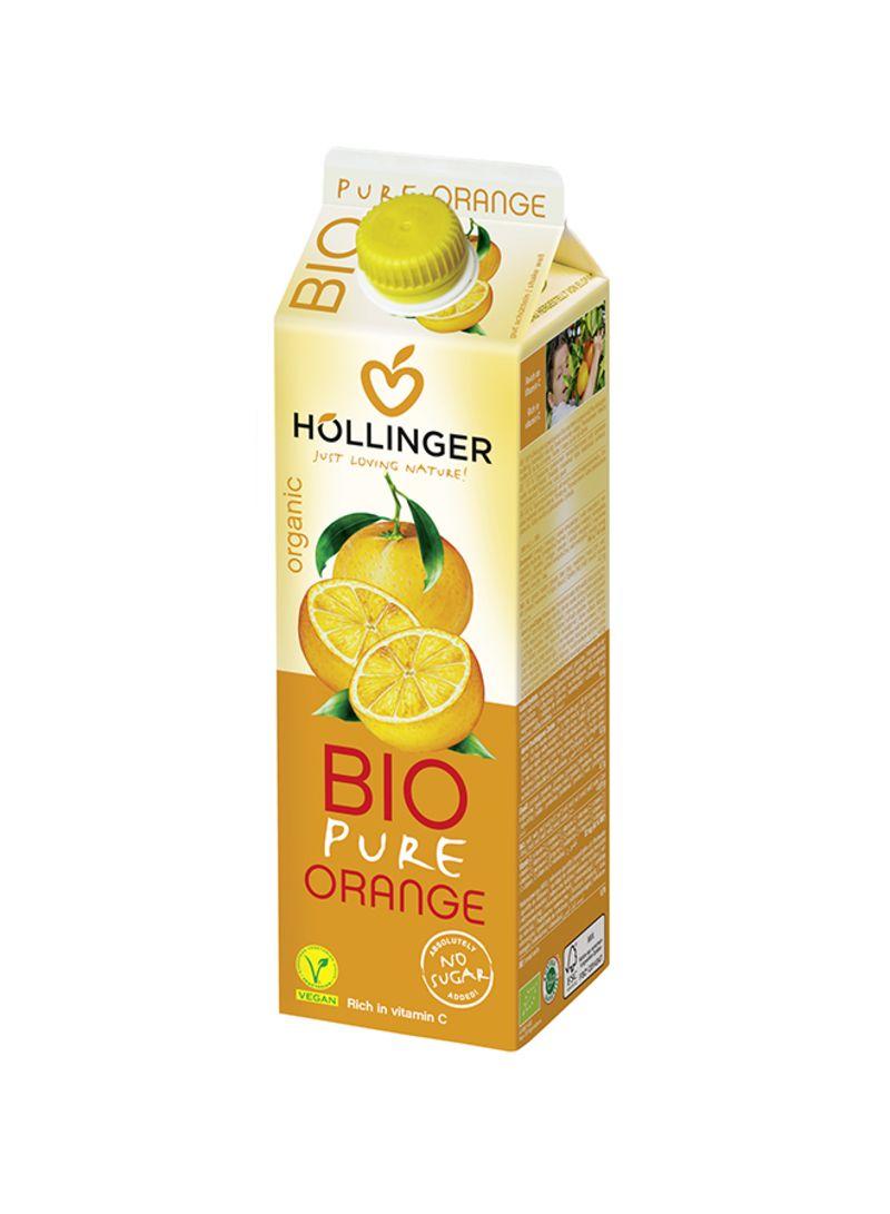 Shop HOLLINGER Organic Bio Pure Orange Juice 1 liter Pack of