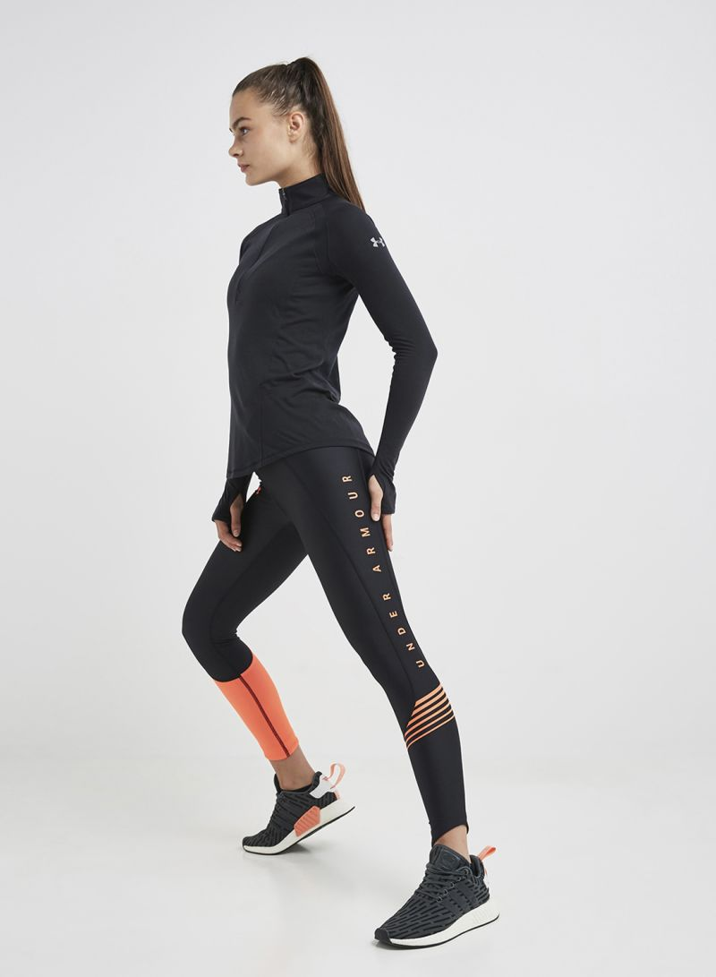 on feet at fashion style of 2019 100% satisfaction Shop Under Armour Fly Fast Graphic Crop Legging Black/Orange online in  Riyadh, Jeddah and all KSA