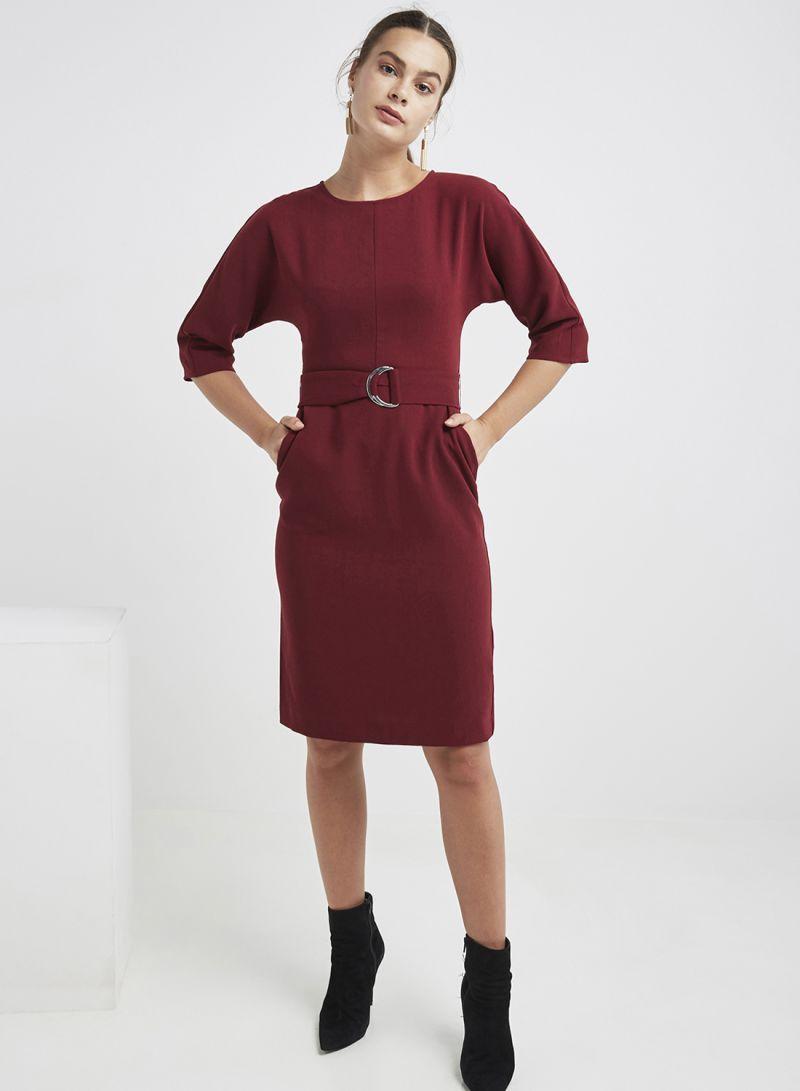 f5f31251c08e Shop Warehouse D-Ring Midi Dress Berry online in Riyadh, Jeddah and ...