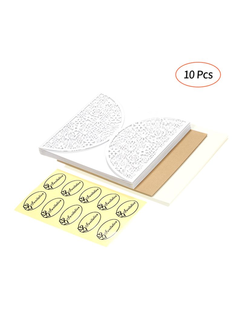 Shop Generic 10 Pieces Pearl Paper Invitation Cards Holders Online In Dubai Abu Dhabi And All Uae