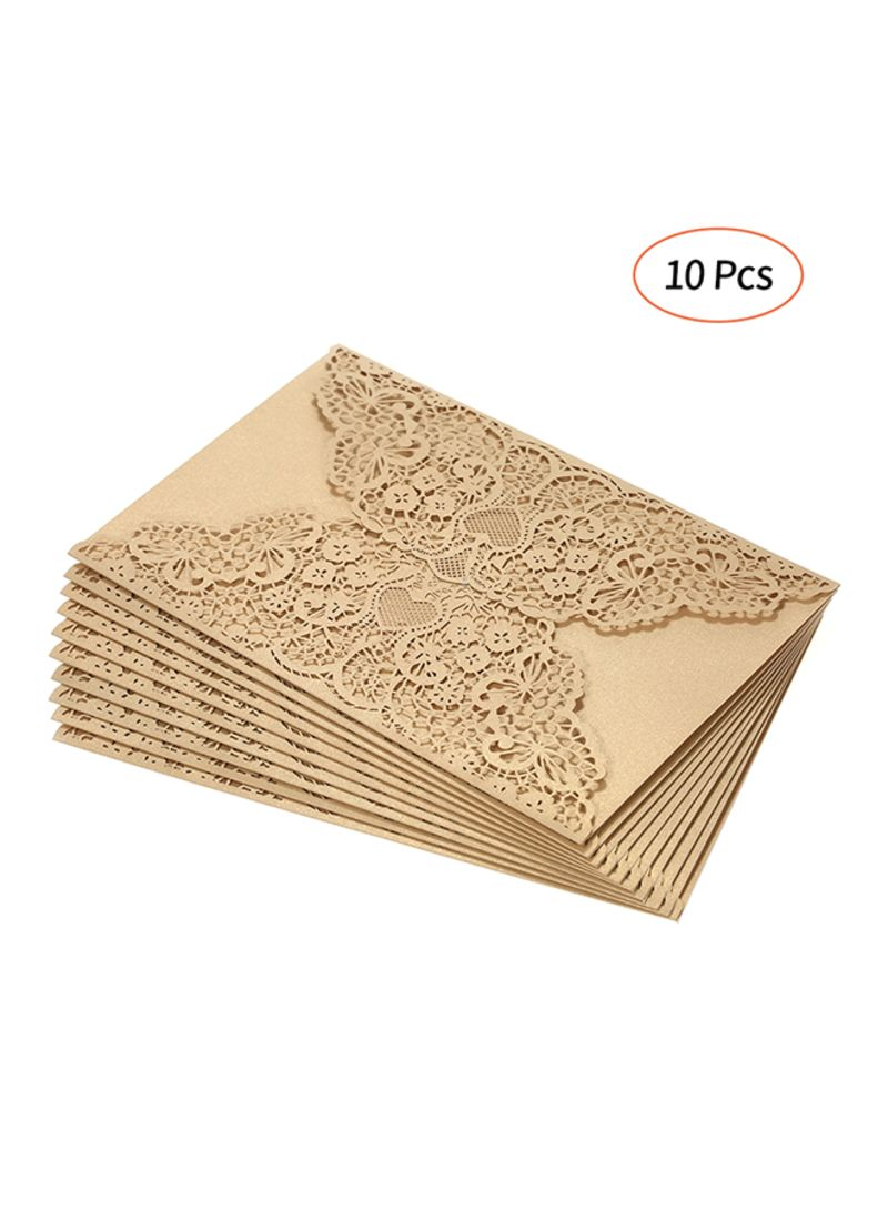 Shop Generic Pack Of 10 Pearl Paper Invitation Cards Holder