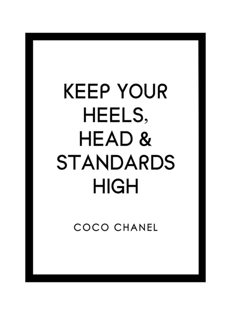 Shop Spoil Your Wall Coco Chanel Quotes Poster With Frame White/Black 40x55  centimeter online in Dubai, Abu Dhabi and all UAE