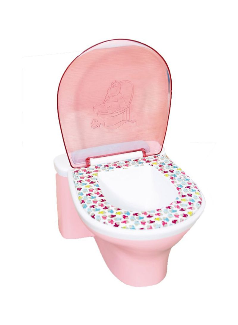 Zapf Creations Baby Born Doll Interactive Funny Toilet with Sound Toy Pink