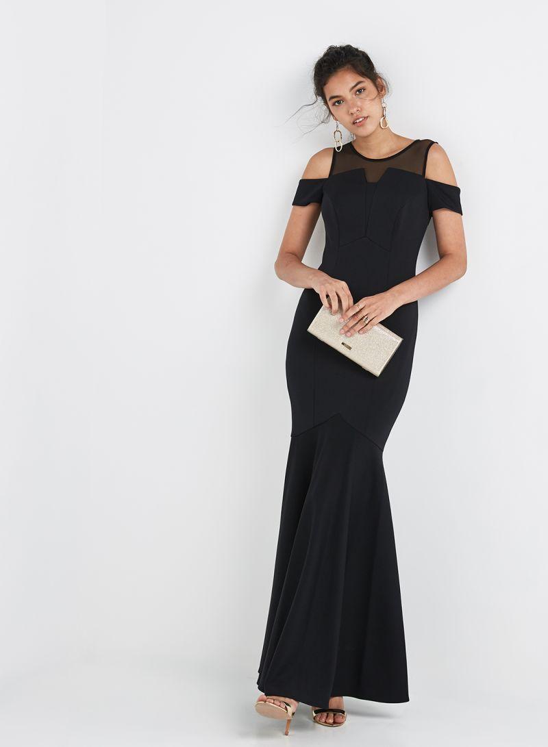 b81e0dcb127d Shop Coast Lorna Fishtail Maxi Dress Black online in Egypt