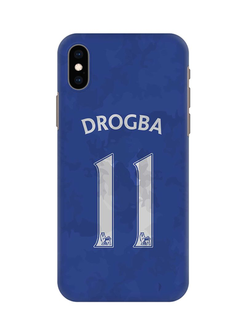 sports shoes 61262 87008 Shop Stylizedd Protective Case Cover For Apple iPhone XS Max Drogba Jersey  online in Riyadh, Jeddah and all KSA