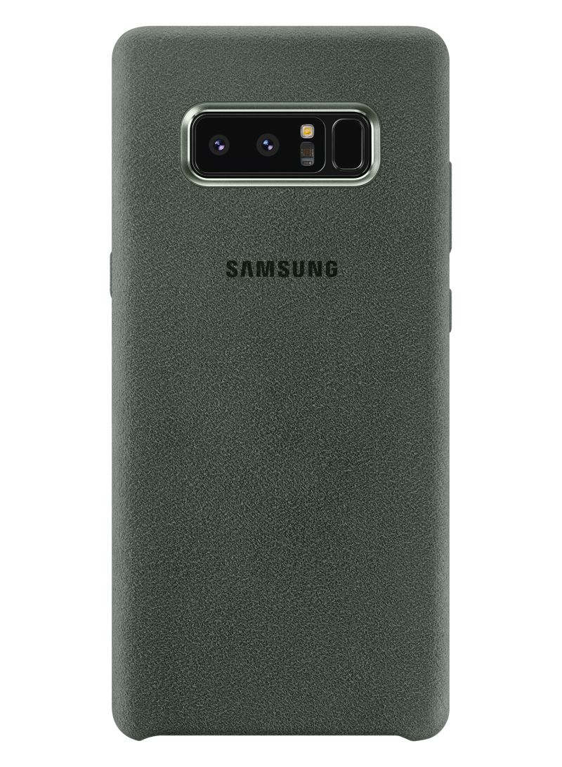 premium selection 8050d b6c57 Shop Samsung Leather Alcantara Back Cover For Galaxy Note 8 Olive ...