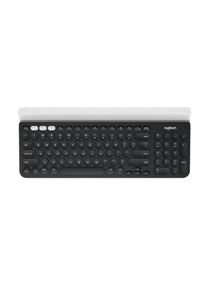 Logitech /® K780 Multi-Device Wireless Keyboard US IN Dark Grey//Speckled White