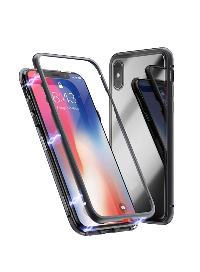 brand new 10979 373cc Shop LNKOO Magnetic Adsorption Case For Apple iPhone XS Max Black/Clear  online in Dubai, Abu Dhabi and all UAE