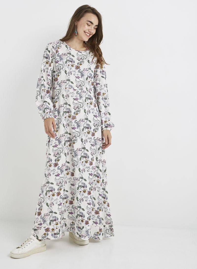 1caa8041a4ae8 Floral Print Long Sleeve Maxi Dress