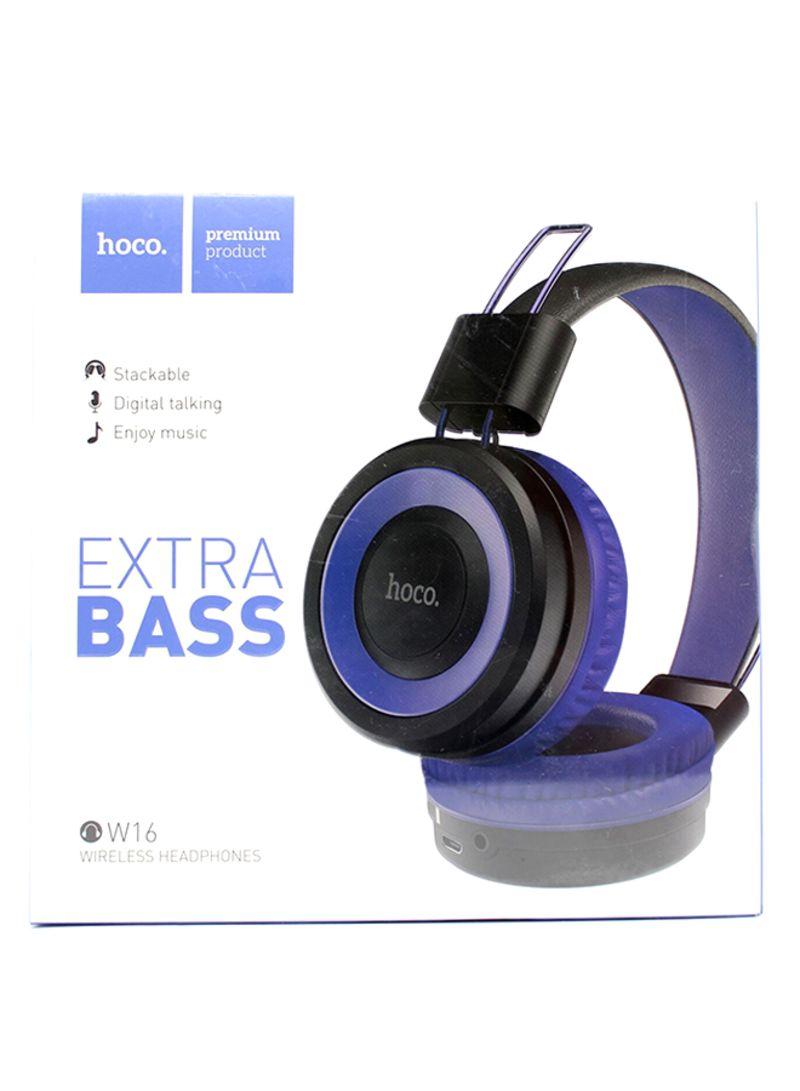 18569ccc0b5 Shop Hoco W16 Cool Motion Over-Ear Bluetooth Headphones 300 mAh Blue ...