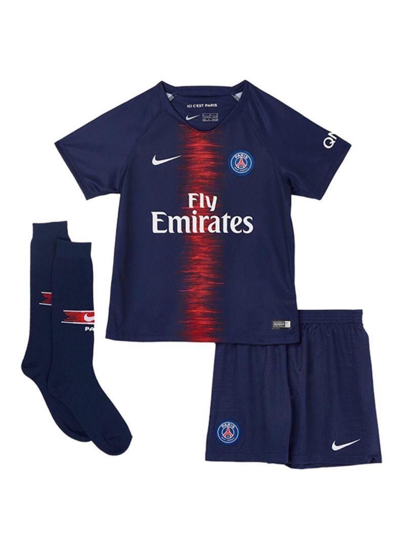 wholesale dealer 22988 9189e Shop Nike Paris Saint-Germain Jersey Set Midnight Navy/White ...