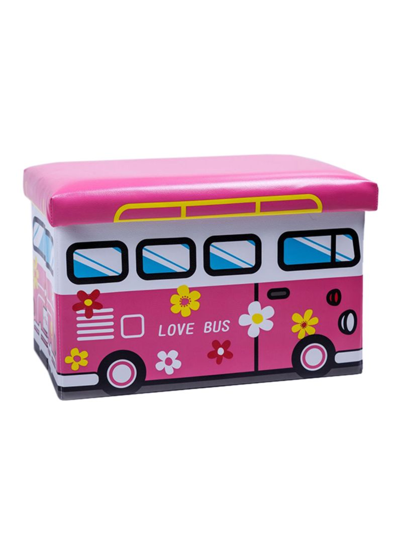 Awesome Shop Generic Love Bus Toy Storage Ottoman Pink White Blue Pdpeps Interior Chair Design Pdpepsorg