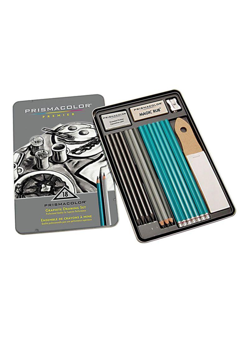 Shop Prismacolor 18 Piece Premier Graphite Drawing Set Blue