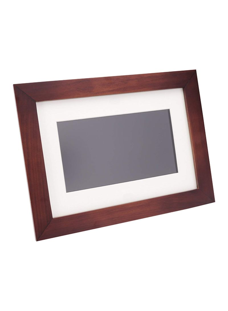 Shop Pandigital Wooden Digital Photo Frame Brown 7 Inch Online In