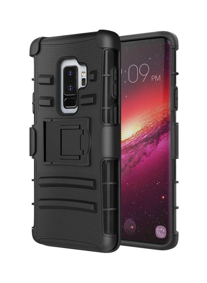 pretty nice 7c5c8 d0784 Shop MoKo Shockproof Case Cover With Kickstand For Samsung Galaxy S9+ Black  online in Riyadh, Jeddah and all KSA